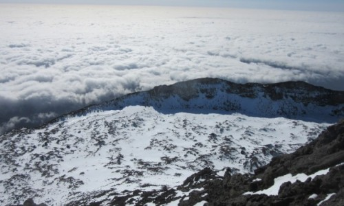 Zdjecie PORTUGALIA / Azory / Pico / Widok z Pico na południową krawędź kaldery