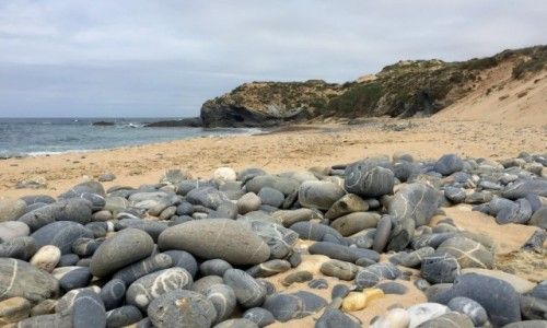 Zdjecie PORTUGALIA / Alentejo / Vila Nova de Milfontes / na plaży...
