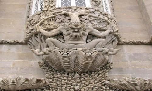 Zdjecie PORTUGALIA / - / Sintra, Palacio Nacional da Pena / Triton Arch...