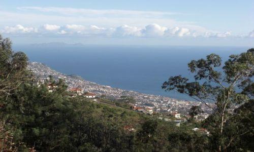 Zdjęcie PORTUGALIA / brak / Madeira - Funchal - góra Eira Do Serrado / Widok z góry Eira Do Serrado 1053m - widok na ocean.