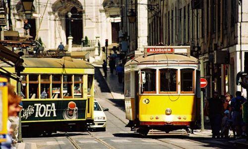 Zdjecie PORTUGALIA / Lizbona / centrum / lizbońskie tramwaje