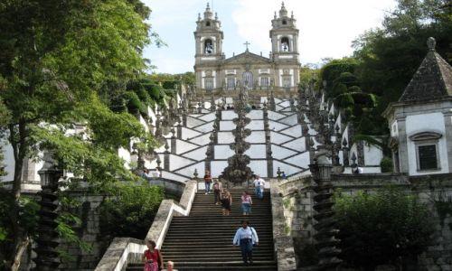 Zdjęcie PORTUGALIA / Minho / Braga / schody do ...