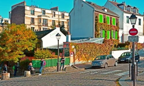 Zdjecie FRANCJA / - / Paryż / Jesienny Montmarte