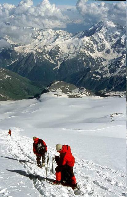 Zdjęcia: Kaukaz, Kaukaz, Zejście (ok 5000 mnpm), ROSJA