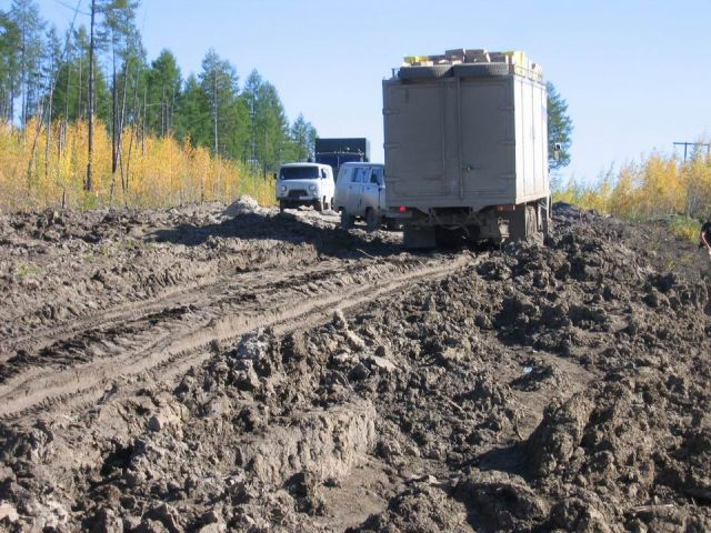 Zdj�cia: Rosja, p�nocna Syberia, p�nocno syberyjska autostrada, ROSJA