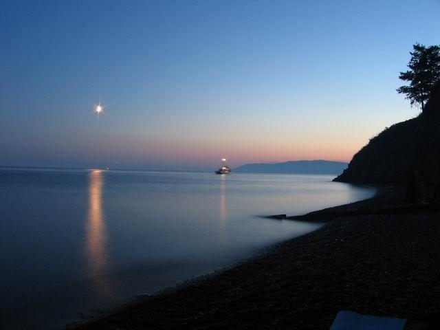 Zdjęcia: Listwianka, Wieczór nad Bajkałem, ROSJA