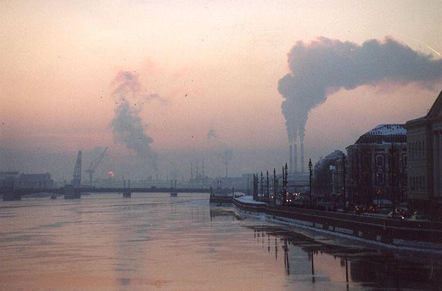 Zdjęcia: nad Newą, St. Petersburg, zachód słońca nad Newą, ROSJA