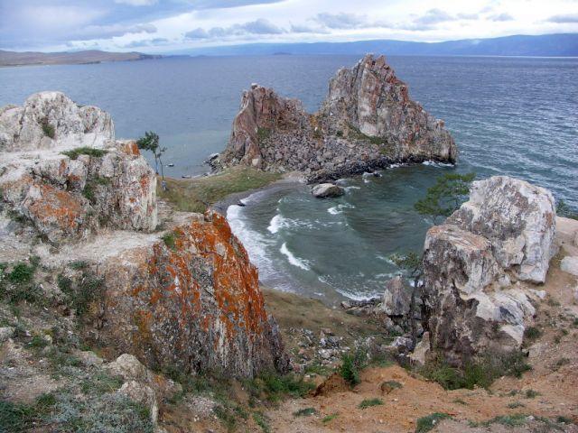 Zdj�cia: Wyspa Olchon, Syberia, Bajka� -Ska�a Szamana, ROSJA