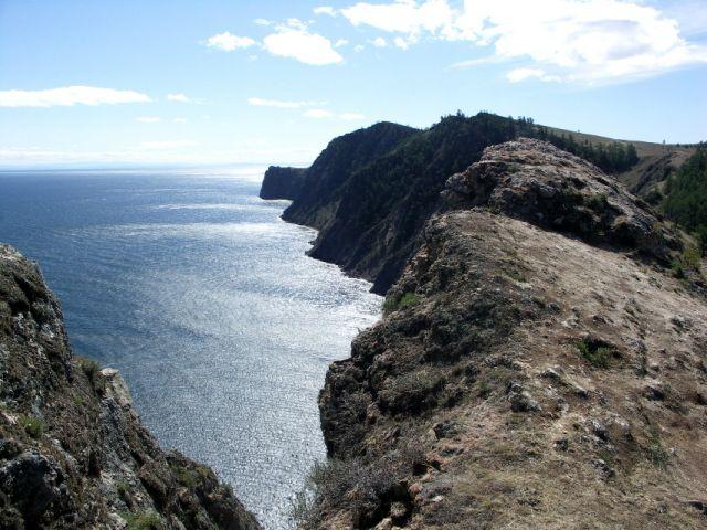 Zdjęcia: Wyspa Olchon, Syberia, Bajkał-skalist wybrzeże , ROSJA