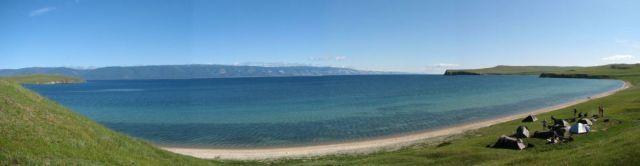 Zdjęcia: Olchon, Bajkal, Oboz nad zatoczka , ROSJA