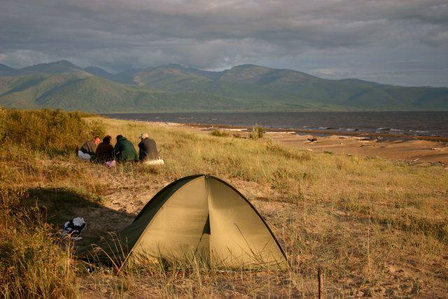 Zdj�cia: Delta G�rnej Angary, Zabajkale, Wiecz�r na wydmach, ROSJA