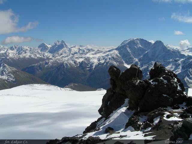Zdj�cia: Elbrus, Kaukaz, L�d i kamie�, ROSJA