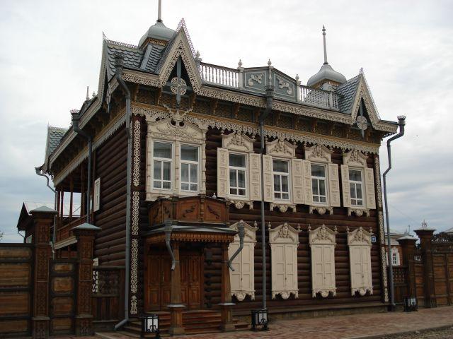 Zdjęcia: Irkuck, Irkucka Oblast, Najpiękniejszy drewniany dom w Irkucku, ROSJA