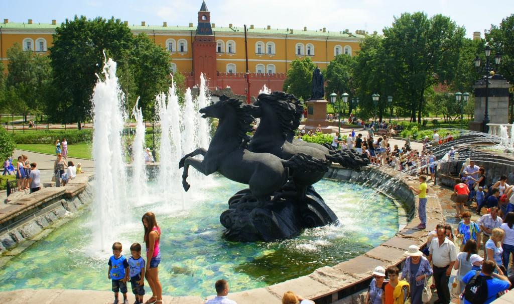 Zdjęcia: Moskwa, Moskwa, Fontanna , ROSJA