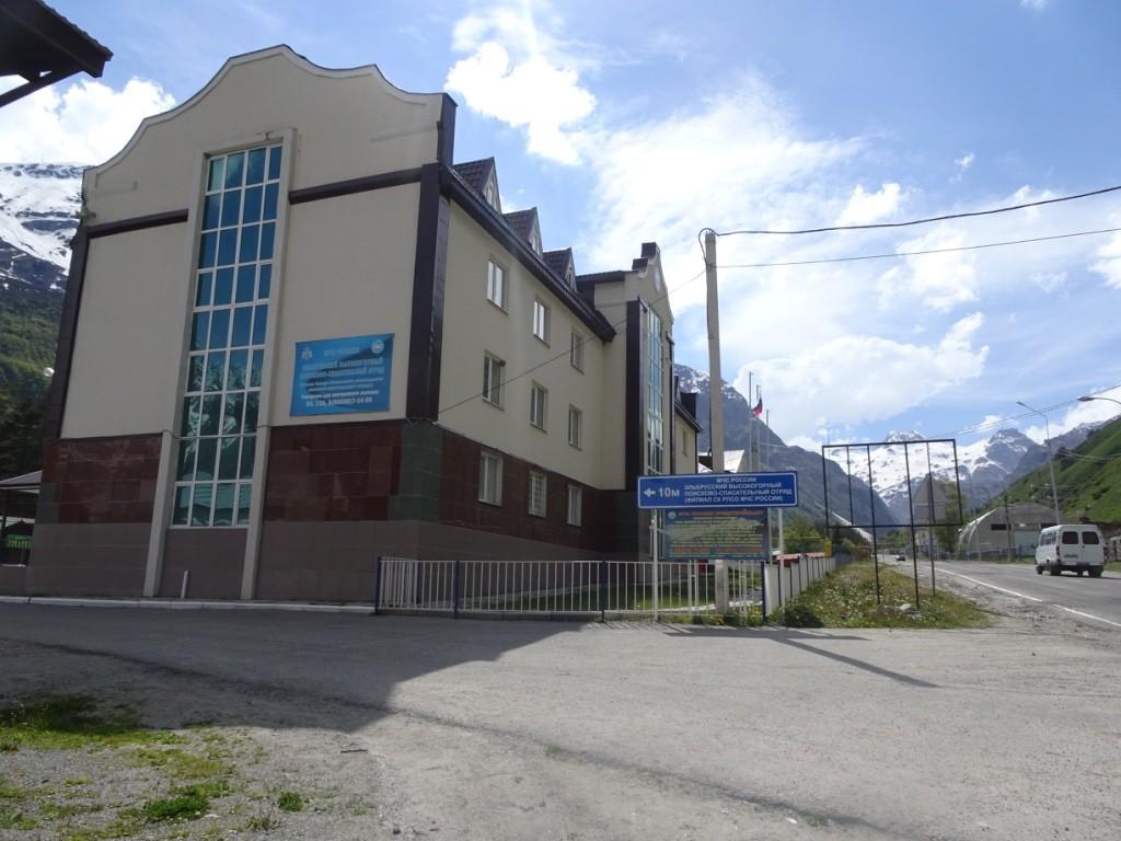 Zdjęcia: Terskol, Kaukaz, Terskol - budynek rejestracji u ratowników , ROSJA