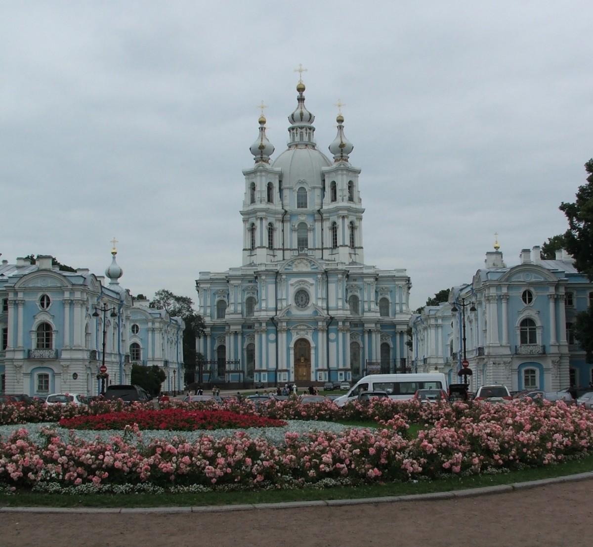 Zdjęcia: Petersburg, Smolny Sobór Zmartwychwstania Pańskiego, ROSJA