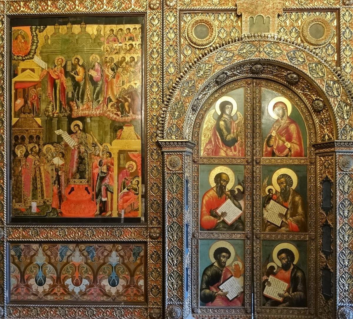 Zdjęcia: Jarosław, Złoty Pierścień Moskwy, Fragment ikonostasu -cerkiew św. Eliasza, ROSJA
