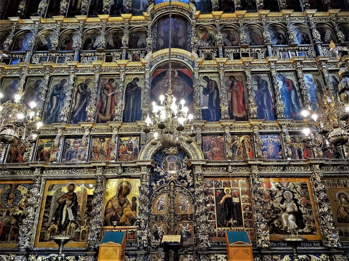Zdjęcia: Jarosłąw, Złoty Pierścień Moskwy, Ikonostas w cerkwi proroka Eliasza, ROSJA