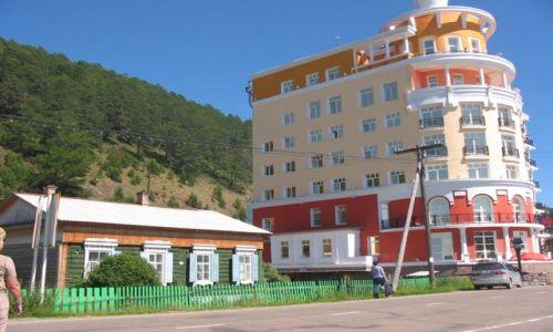 Zdjecie ROSJA / Przybajkale / kurort położony nad Bajkałem i rzeką Angarą / Listwianka
