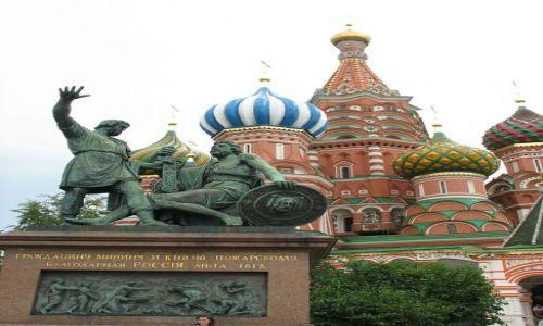 Zdj�cie ROSJA / Moskwa / Plac Czerwony / Minin i Po�arski na Placu Czerwonym