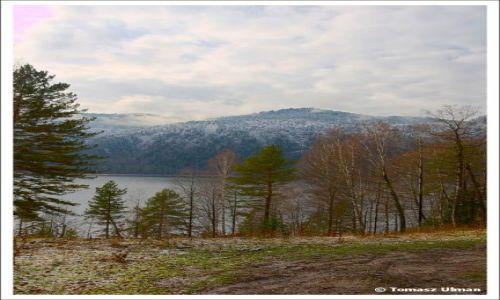 ROSJA / Republika Altajska / Artybasz / Widok na jezioro Teletskoje