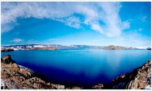 ROSJA / Syberia / Wyspa Olkhon / Panorama Bajkału