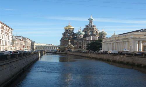 Zdjęcie ROSJA / Sankt Petersburg / Kanał Gribojedowa / Sobór Zmartwychwstania Pańskiego/ Sobór Zbawiciela Na Krwi