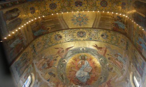 Zdjecie ROSJA / Sankt Petersburg / Kanał Gribojedowa / Mozaiki