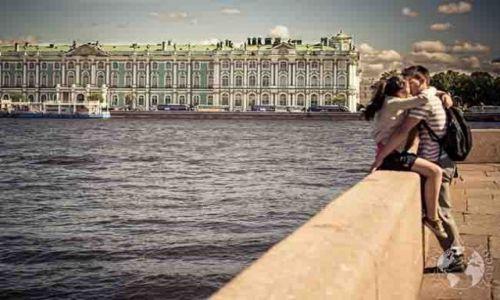 Zdjęcie ROSJA / - / Sankt Petersburg / Pałac Zimowy znad Nevy