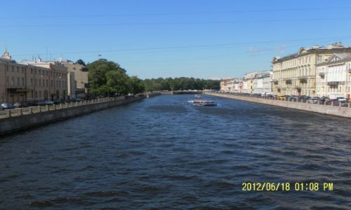 Zdjecie ROSJA / Leningradskaja Obłast  ;-) / St. Petersburg -nadberezhna Reki Fontanki / petersburskie kanały