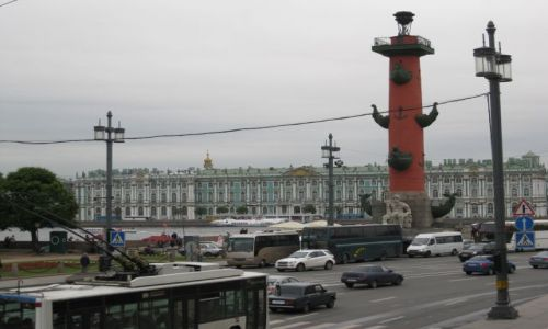 Zdjecie ROSJA / - / Petersburg / Petersburg - Kolumna Rostralna