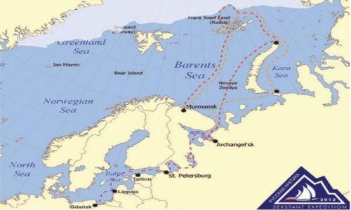 ROSJA / - / Od Gdańska po granicę wiecznego lodu. / Mapa Wyprawy