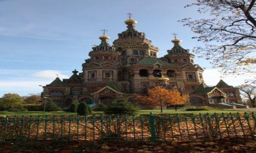 Zdjęcie ROSJA / Sankt Petersburg / Peterhof / cerkiew św.Piotra i Pawła - Peterhof