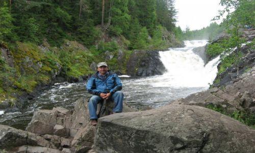 Zdjecie ROSJA / Karelia / Wodospad Kiwacz / KARELIA