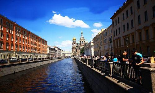 Zdjecie ROSJA / płn-zach Rosja / St. Petersburg / Kanał Gribojedowa