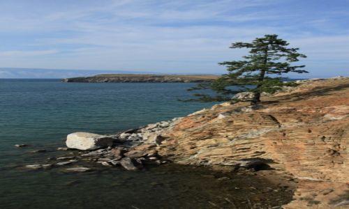 Zdjęcie ROSJA / Jezioro Bajkał / Wyspa Olchon / Gdzie Bajkał podnóża gór sięga..