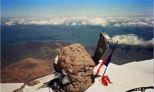 Zdjecie ROSJA / Kaukaz / Elbrus / szczyt Elbrusa