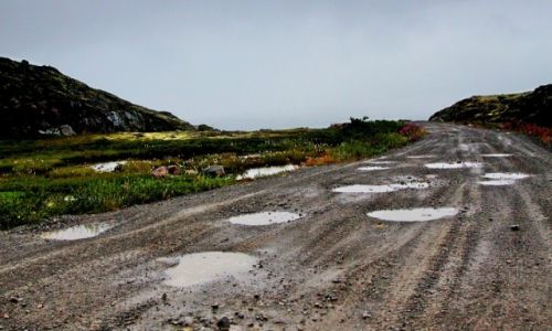 Zdjęcie ROSJA / płn-zach Rosja / tundra / Ser szwajcarski w rosyjskim wydaniu...czyli droga :)