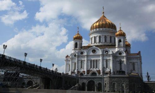 Zdjęcie ROSJA / Moskwa / Rzeka Moskwa / Katedralny sobór Chrystusa Zbawiciela