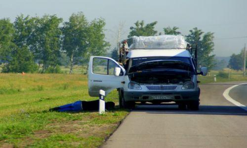 Zdjecie ROSJA / Terbush / Terbush / Senność na  drodze
