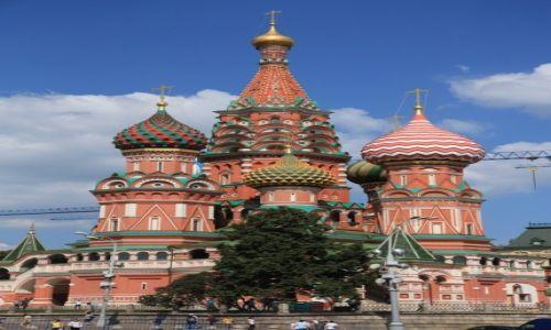 ROSJA / Moskwa / Kreml / Sobór Wasyla Błogosławionego