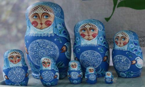 Zdjęcie ROSJA / Moskwa / Kuskowo / Matrioszki w stylu cerkiewnym