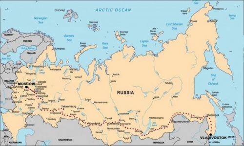 Zdjecie ROSJA / Rosja / Rosja / Mapa Rosji