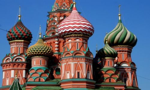 Zdjecie ROSJA / Moskwa / przy Placu Czerwonym / Sobor Wasilija Błażennogo