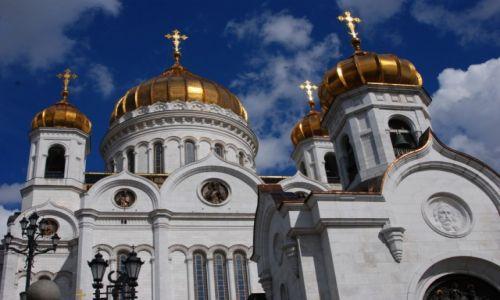 Zdjęcie ROSJA / Moskwa / nad rzeką Moskwą / Katedra Chrystusa Zbawiciela