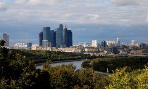 Zdjęcie ROSJA / Moskwa / Vorobevy Gory / Widok z Wróblowych Wzgórz
