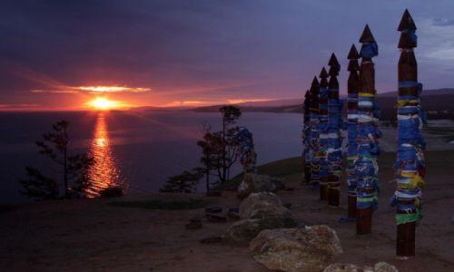 Zdjęcie ROSJA / Bajkał / Wyspa Olchon / Wschód Słońca Szamanów