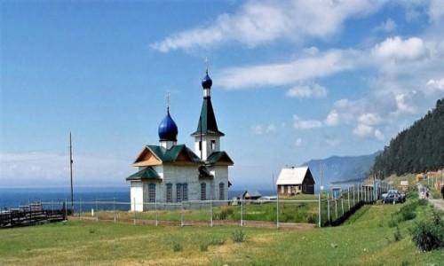 Zdjęcie ROSJA / Bajkał / Bolszoje Gołoustnoje / Cerkiew św. Mikołaja