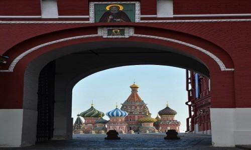 Zdjecie ROSJA / Moskwa / Moskwa / Sobór Wasyla Bł