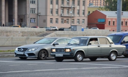 Zdjecie ROSJA / Moskwa / Moskwa / Zderzenie pokol